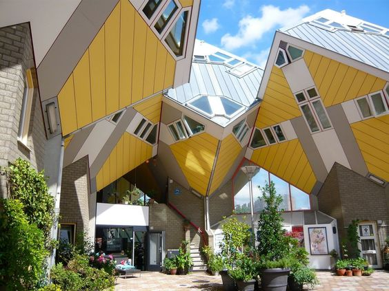 Holland's 56 creative Cube Houses in Helmond and Rotterdam encourage comfortably dense urban living.