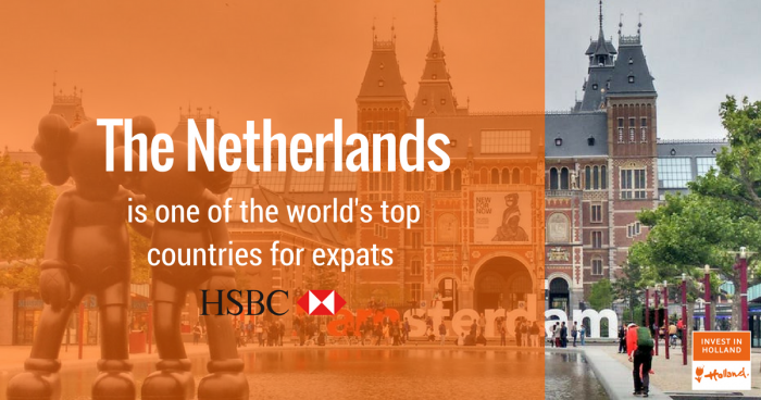 The Netherlands is one of the world's best countries for expats, according to HSBC's Expat Explorer report, ranking Holland best destination for families.