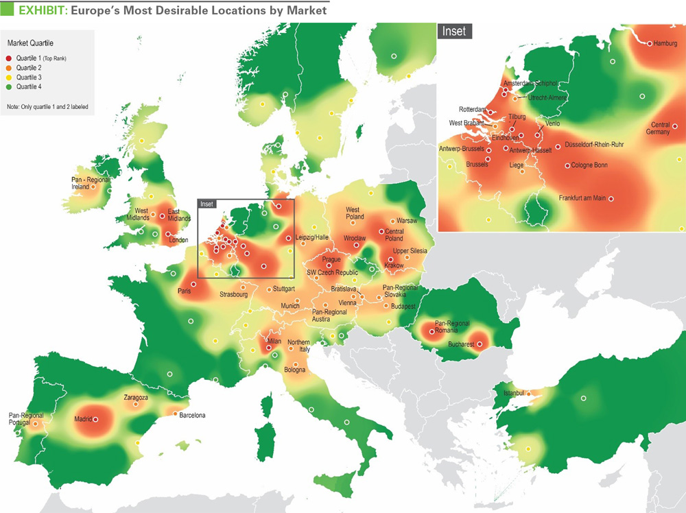 Holland Europe Map.Prologis Crowns Holland As Top Destination For Logistics Services In