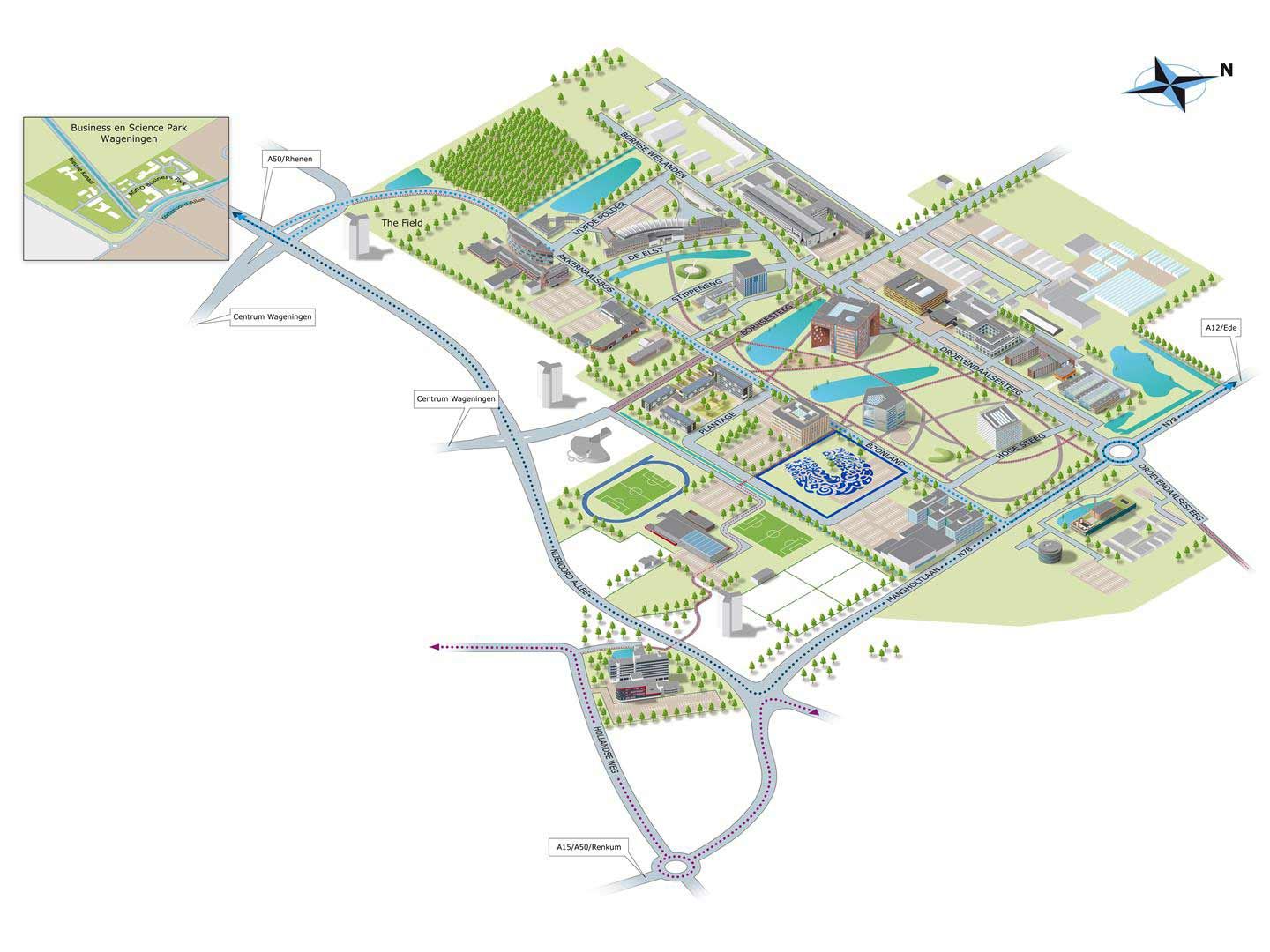 Mid Pacific Institute Campus Map.Unilever Starts Construction Global Foods Innovation Center Wageningen