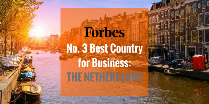 Forbes ranks the Nethelrands the 3rd best country to do business in