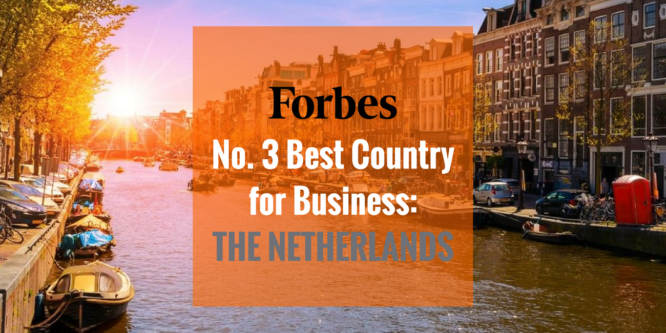 The Netherlands is the No. 3 Best Country for Business, says Forbes. The annual ranking placed the Netherlands above other European countries.
