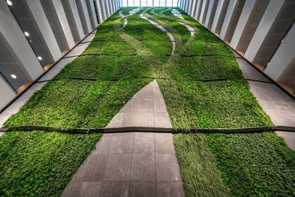 New EMA building in Amsterdam features a green wall